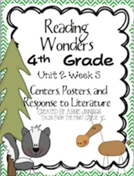 Reading Wonders Fourth Grade Unit 2 Bundle