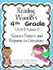 Reading Wonders Fourth Grade Unit 3 Bundle