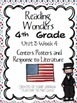 Reading Wonders Fourth Grade Unit 3 Bundle