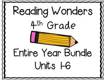 Reading Wonders Fourth Grade Entire Year Bundle