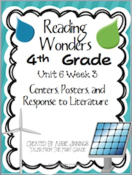 Reading Wonders Fourth Grade Unit 6 Week 3