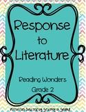 Reading Wonders 2013 Companion Grade 2 Response to Literature FULL YEAR