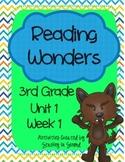 Reading Wonders 2013 Companion Pack Grade 3 Unit 1 Week 1