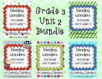 Reading Wonders Companion Pack 3RD GRADE Unit 2 Bundle