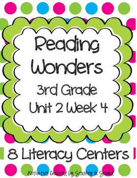 Reading Wonders Companion Pack Grade 3 Unit 2 Week 4