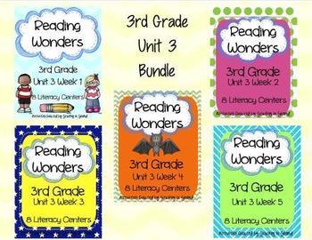 Reading Wonders 3RD GRADE Unit 3 Bundle