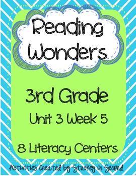 Reading Wonders Companion Pack Grade 3 Unit 3 Week 5