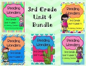 Reading Wonders Grade 3 (Unit 4 Bundle)