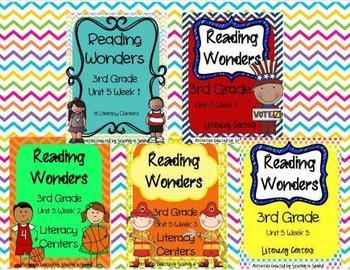 Reading Wonders Grade 3 (Unit 5 Bundle)