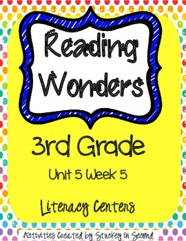 Reading Wonders Companion Pack Grade 3 Unit 5 Week 5