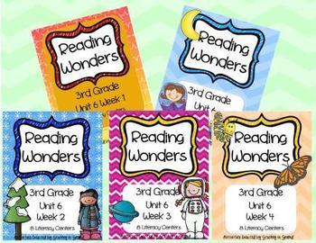 Reading Wonders 3RD GRADE Unit 6 Bundle