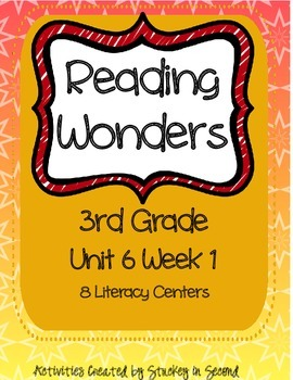 Reading Wonders Grade 3 Unit 6 Week 1