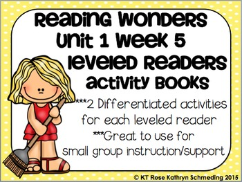 Reading Wonders Gr 2 Unit 1 Wk 5 Leveled Reader Activities