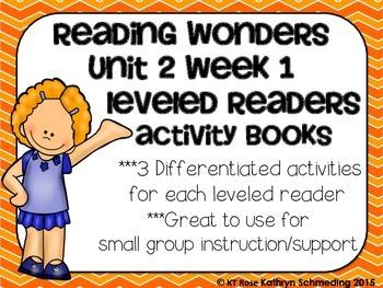 Reading Wonders Gr 2 Unit 2 Wk 1 Leveled Reader Activities