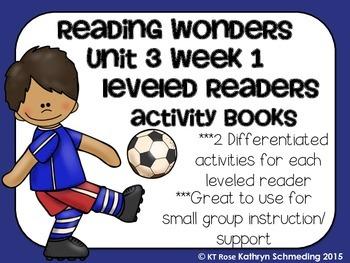 Reading Wonders Gr 2 Unit 3 Wk 1 Leveled Reader Activities