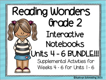 Reading Wonders Gr 2 Unit 4, 5, and 6 Interactive Notebook/Anchor Charts BUNDLE