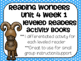 Reading Wonders Gr 2 Unit 4 Wk 1 Leveled Reader Activities