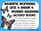 Reading Wonders Gr 2 Unit 4 Wk 4 Leveled Reader Activities