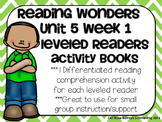 Reading Wonders Gr 2 Unit 5 Wk 1 Leveled Reader Activities