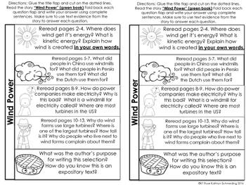Reading Wonders Gr 2 Unit 6 Wk 2 Leveled Reader Activities