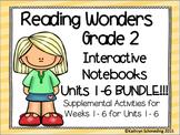 Reading Wonders Gr 2 Units 1-6 Interactive Notebook/Anchor Charts BUNDLE
