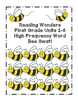Reading Wonders Grade 1 Unit 1-6 COMPLETE SET High Frequen