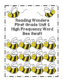 Reading Wonders Grade 1 Unit 1 High Frequency Word Bee Swat Center/Game!