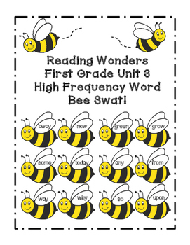 Reading Wonders Grade 1 Unit 3 High Frequency Word Bee Swa