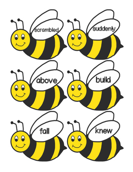 Reading Wonders Grade 1 Unit 5 High Frequency Word Bee Swat Center/Game!