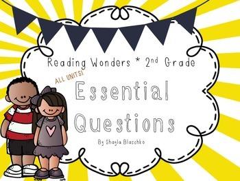 Reading Wonders Grade 2 Essential Weekly Questions Pack