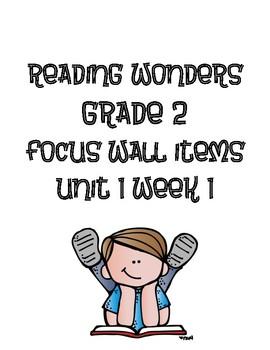 Reading Wonders Grade 2 Focus Wall Items Unit 1-6 BUNDLE PACK!