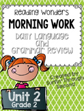 Reading Wonders Grade 2 - Unit 2 - Morning Work - Language