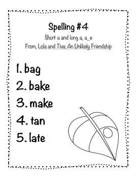 Reading Wonders Grade 2 Spelling List Unit: 2