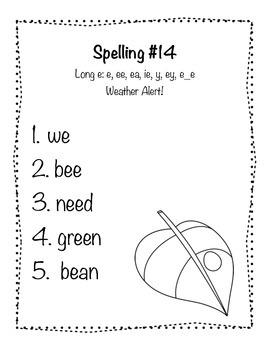 Reading Wonders Grade 2 Spelling List Unit: 3