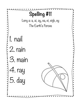 Reading Wonders Grade 2 Spelling List Unit: 3