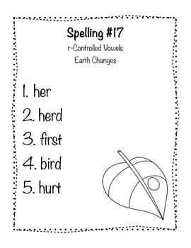 Reading Wonders Grade 2 Spelling List Unit: 4
