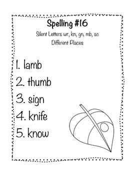 Reading Wonders Grade 2 Spelling List Unit: 4