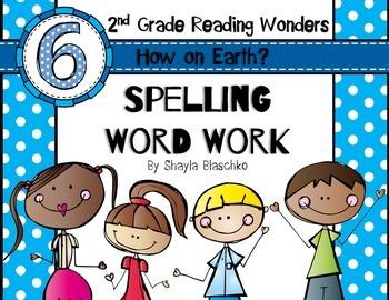 Reading Wonders Grade 2 - Spelling Word Work - Unit 6 - SU