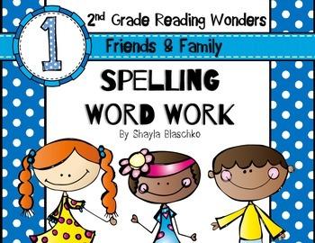 Reading Wonders Grade 2 - Spelling Word Work - Unit 1 - SUPER PACK