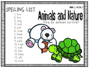 Reading Wonders Grade 2 - Spelling Word Work - Unit 2 - SUPER PACK