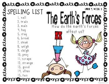 Reading Wonders Grade 2 - Spelling Word Work - Unit 3 - SUPER PACK