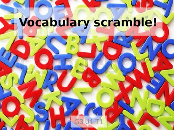 Reading Wonders Grade 2 Unit 1 Topic 1 Vocabulary Scramble