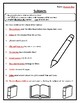 Reading Wonders Grade 2 Unit 1 Week 3 Grammar Practice Subjects Worksheet
