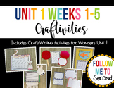 Reading Wonders Grade 2 Unit 1 Weeks 1-5 Writing Craft Craftivity