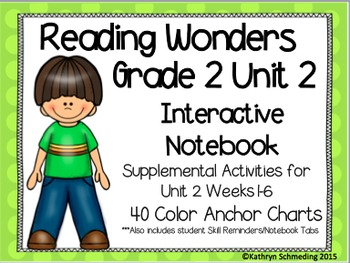 Reading Wonders Grade 2 Unit 2 Interactive Notebook/Anchor Charts