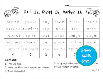 Reading Wonders Grade 2 - Unit 2 Week 3 - Roll It, Read It, Write It Activity