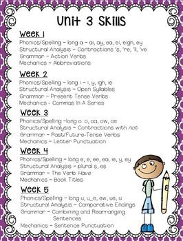 Reading Wonders Grade 2 - Unit 3 - Morning Work - Language and Grammar