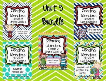 Reading Wonders Companion Pack 2ND GRADE Unit 5 Bundle