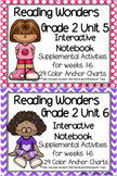 Reading Wonders Grade 2 Unit 5 and 6 Interactive Notebook/Anchor Charts BUNDLE