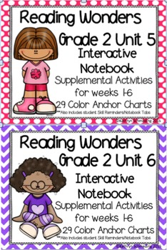 Reading Wonders Grade 2 Unit 5 and 6 Interactive Notebook/